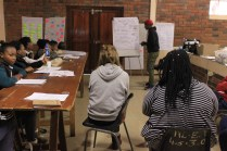 """A tutor from Eastern Cape presenting his teams """"Change Agent Action Plan"""""""