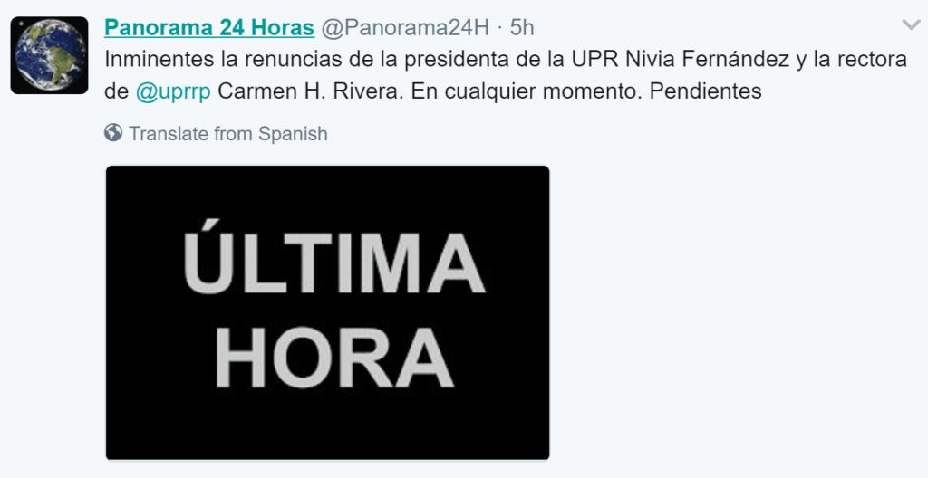 Renuncia rectora del recinto de Río Piedras