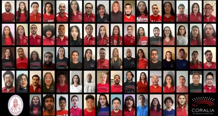 Coros de la IUPI celebran fin del semestre en línea