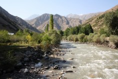 One more small river in water-rich Tajikistan