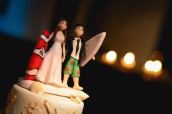 La torta de casamiento de Agustín y Rocío