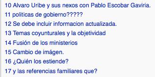 La discusiones sobre Uribe son mas interasantes que el articulo mismo