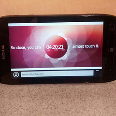 Ironically, I'm watching the countdown on www.Ubuntu.com on a Nokia Lumia running Windows Phone. #ubuntu #linux