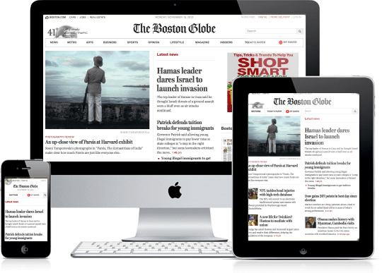 El diseño del Boston Globe, ejemplo paradigmático de responsive web design