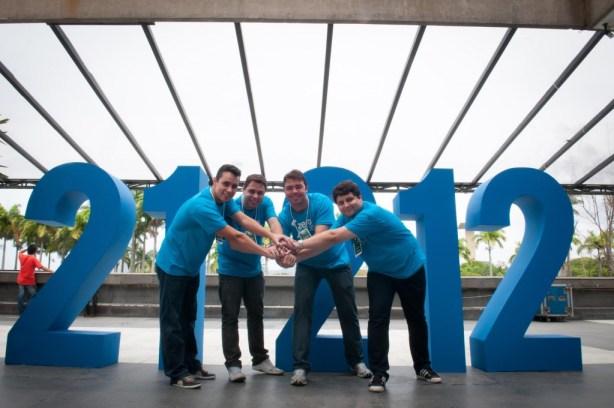 El equipo de ZeroPaper,  Carlos Braga, Árley Moura, André Macedo y Cadu Carvalho, en 21212.