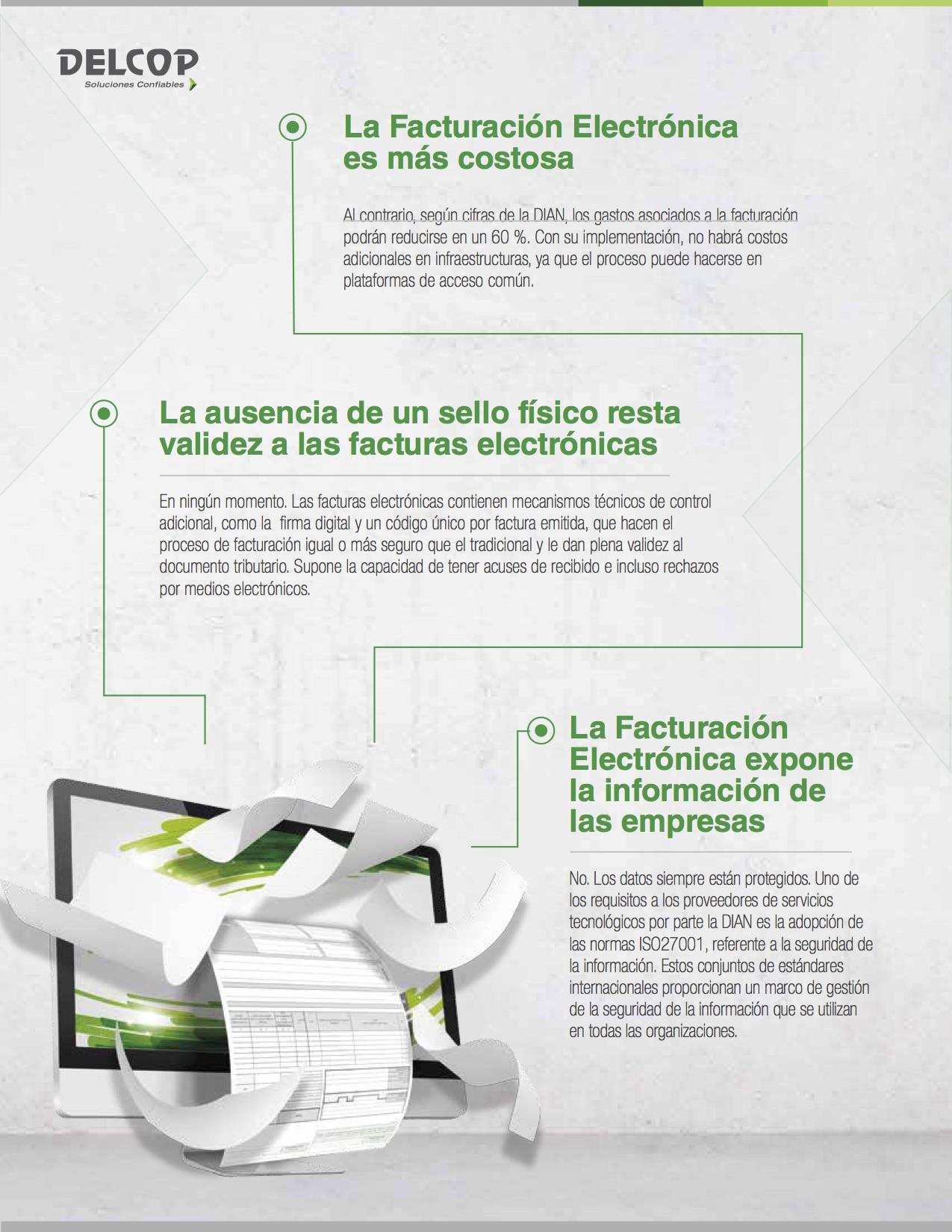 Infografia mitos facturación Electrónica