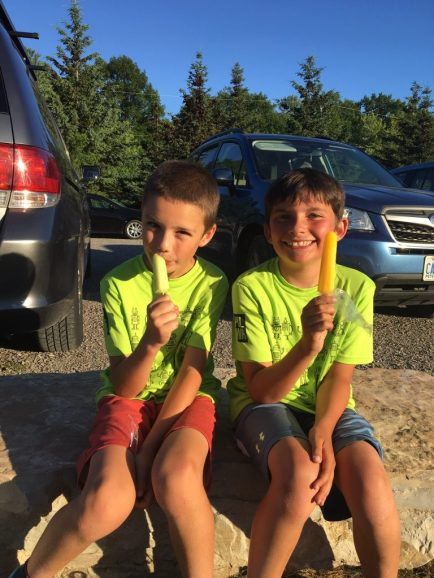 Juniors Enjoying a Popsicle