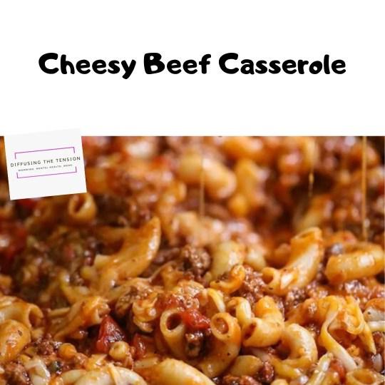 cheesy beef casserole, recipe