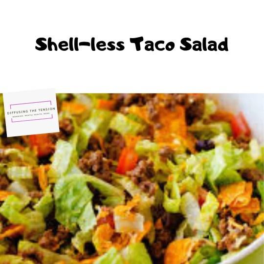 taco salad, low carb, salad, recipe