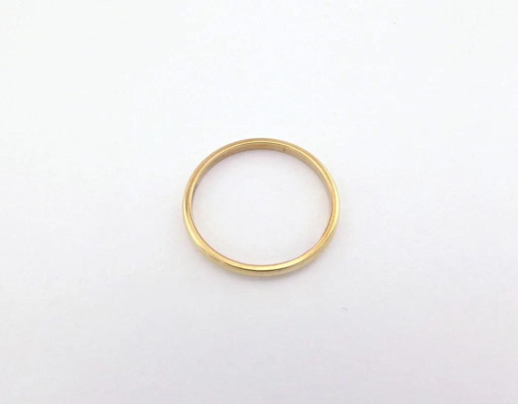 Dame  billig forlovelses ring simpel guldring til