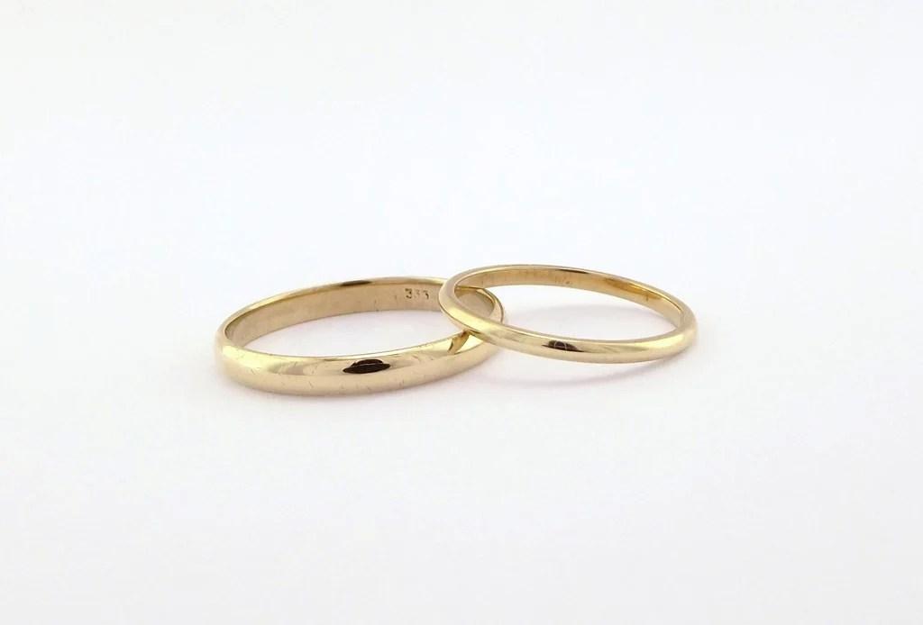Herre  billig forlovelses ring simpel guldring til