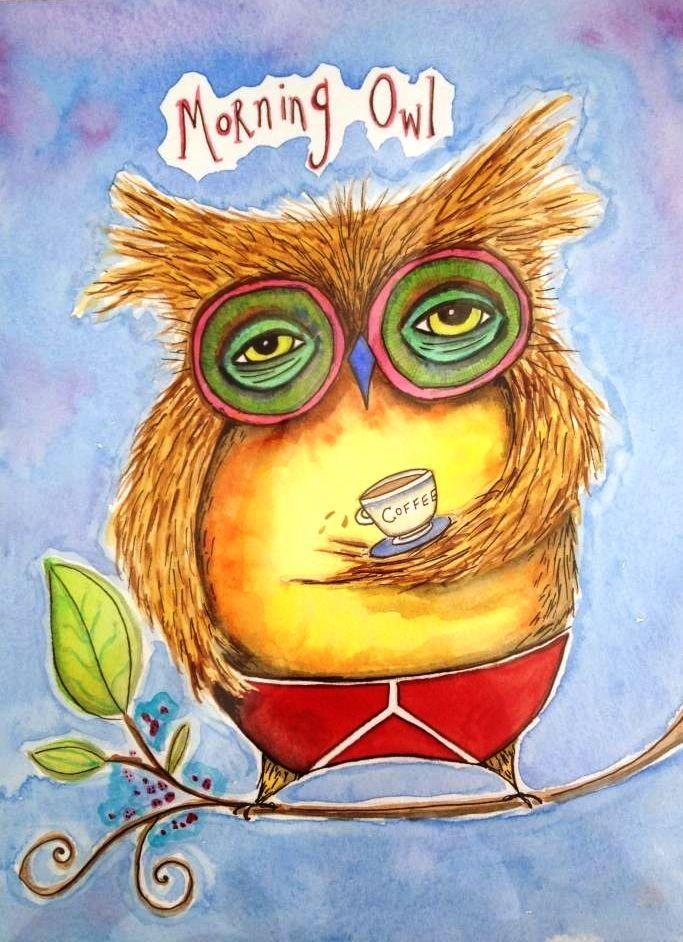 Fall Blessings Wallpaper Sparkle 117 Illustrated Owl Art Pumpernickel Pixie