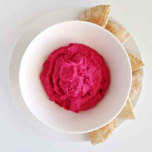 Roasted Beet White Bean Dip // pumpkin & peanut butter