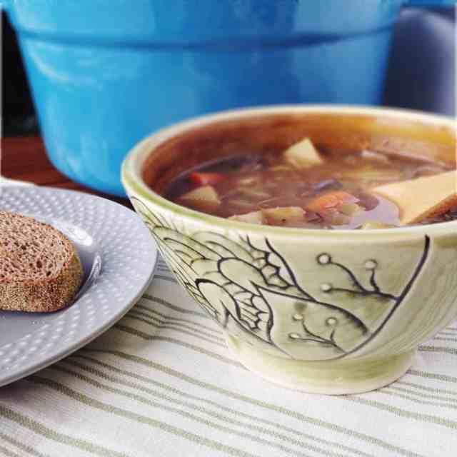 Mushroom Potato {Beefless} Stew