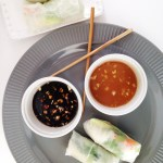 Vegetarian Spring Rolls with Dipping Sauces