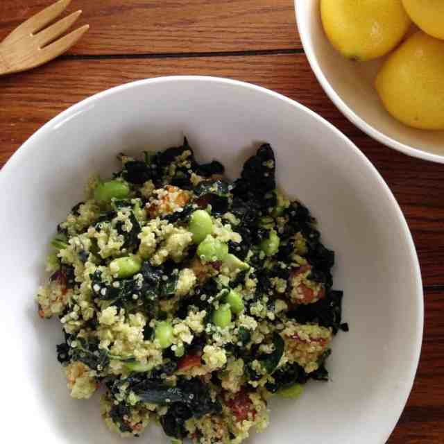 Superfood Bowl with Avocado Vinaigrette