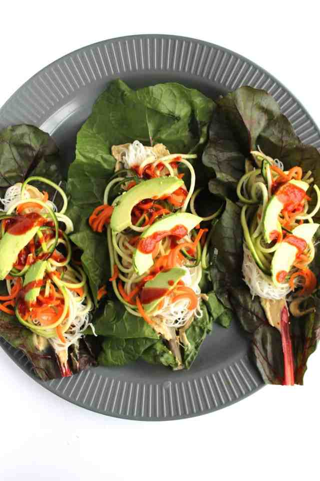 {almost} Raw Veggie Hummus Chard Wraps {pumpkin & peanut butter}