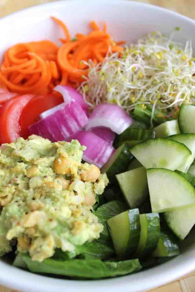 California Veggie Power Salad {pumpkin & peanut butter}