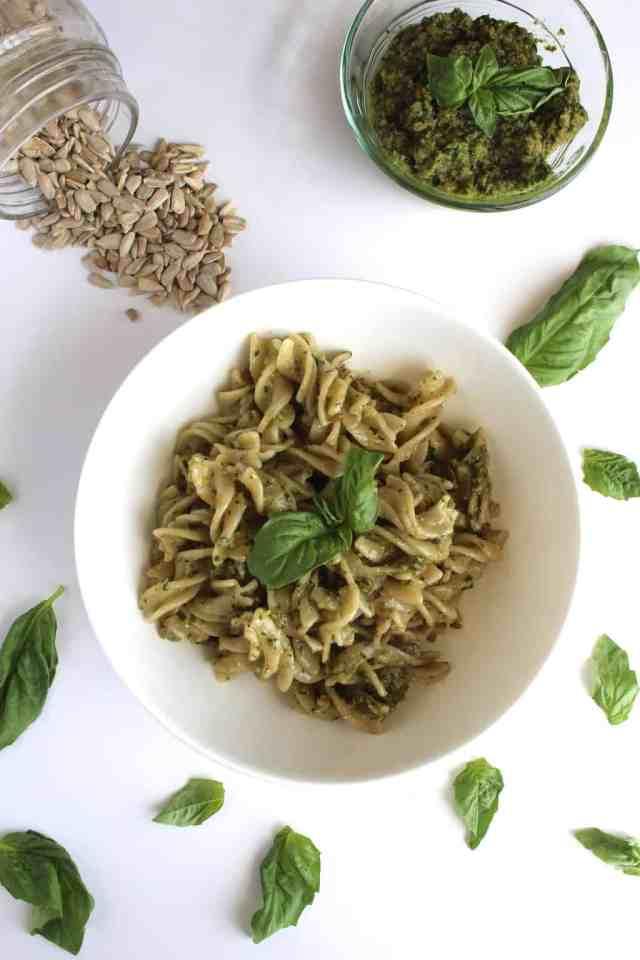 Sunflower Seed Pesto Pasta {pumpkin & peanut butter}