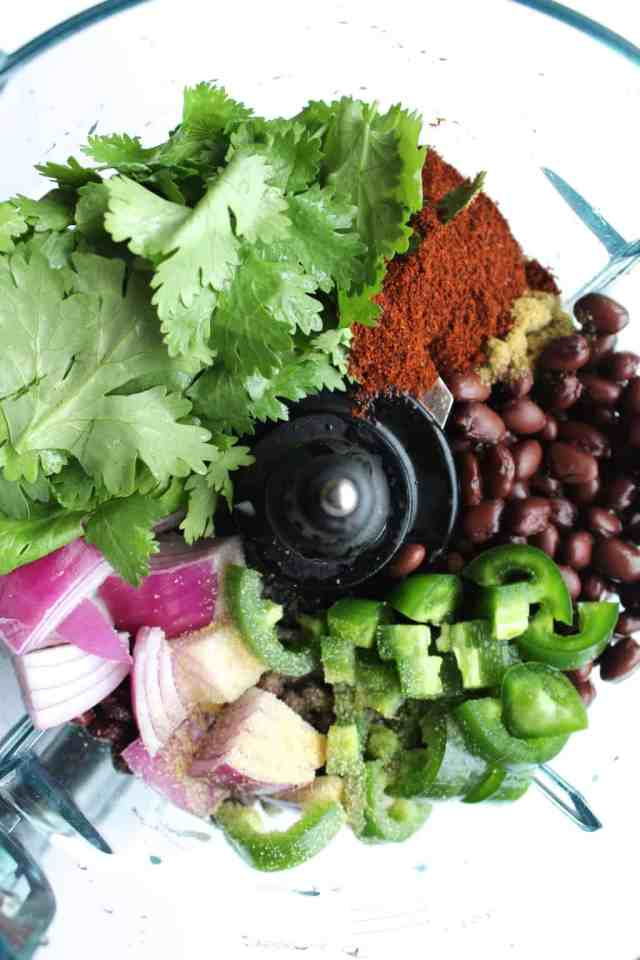 Southwestern Salads with Black Bean Falafel
