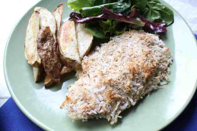 Coconut Crusted Tilapia // pumpkin & peanut butter