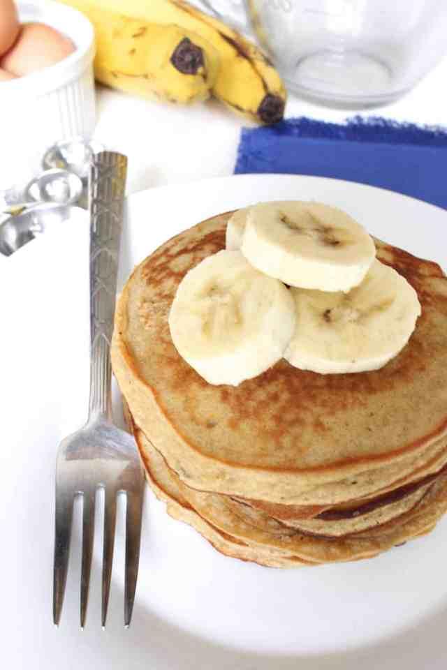 Peanut Butter Banana Coconut Flour Pancakes // pumpkin & peanut butter