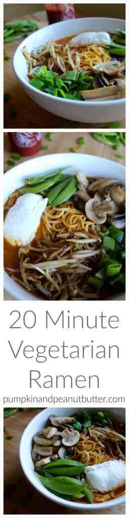 20 Minute Vegetarian Ramen // pumpkin & peanut butter