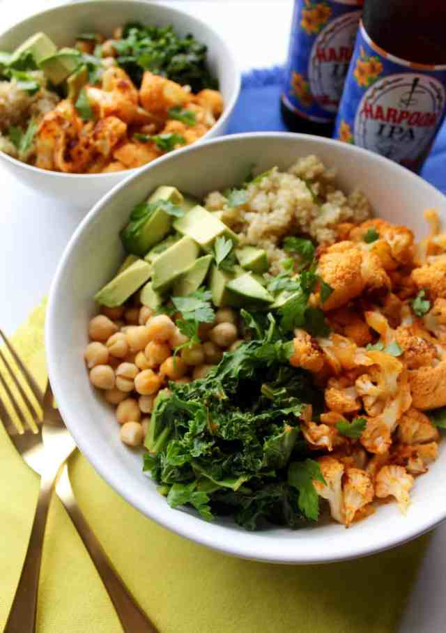 Spicy Cauliflower Power Bowl // pumpkin & peanut butter