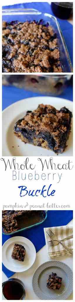 Whole Wheat Blueberry Buckle // pumpkin & peanut butter {vegan option}