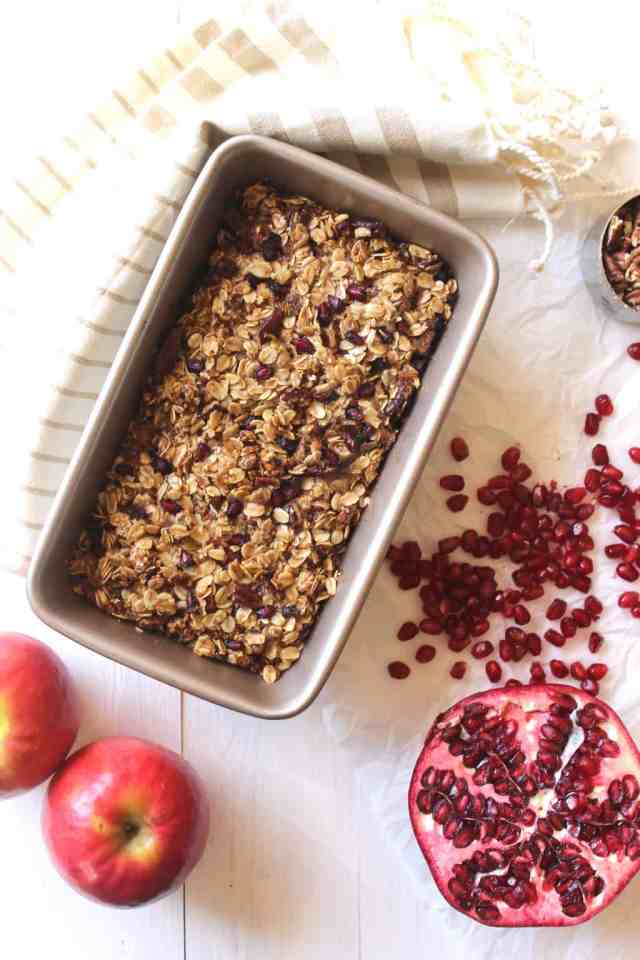 Pomegranate Apple Coffee Cake {gluten free} // pumpkin & peanut butter