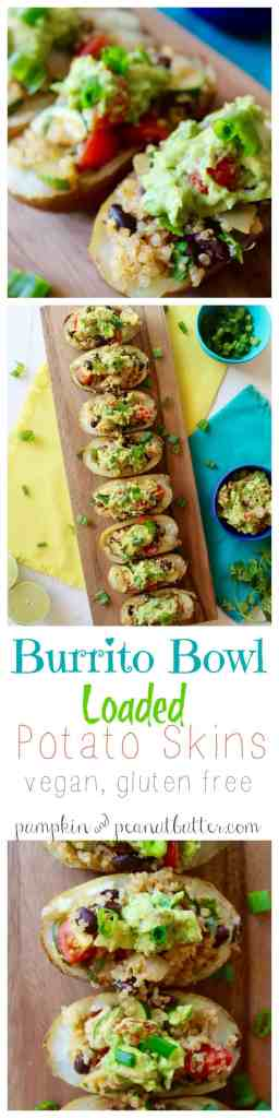 Burrito Bowl Loaded Potato Skins {vegan, gluten free} // pumpkin & peanut butter