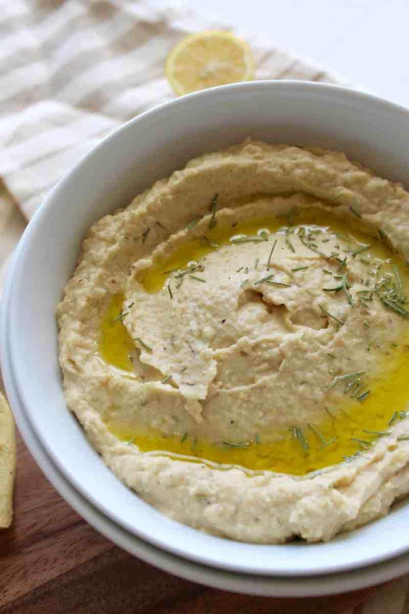 Lemon Rosemary Hummus