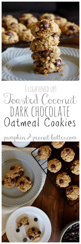 Toasted Coconut Dark Chocolate Oatmeal Cookies ...