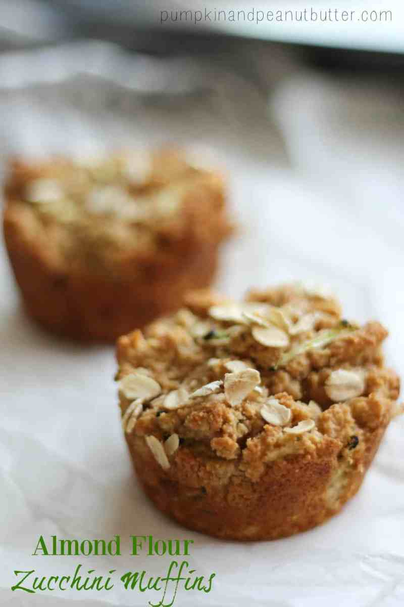Almond Flour Zucchini Muffins