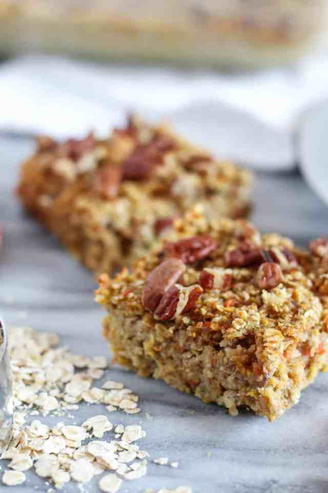 Carrot Cake Baked Oatmeal For One