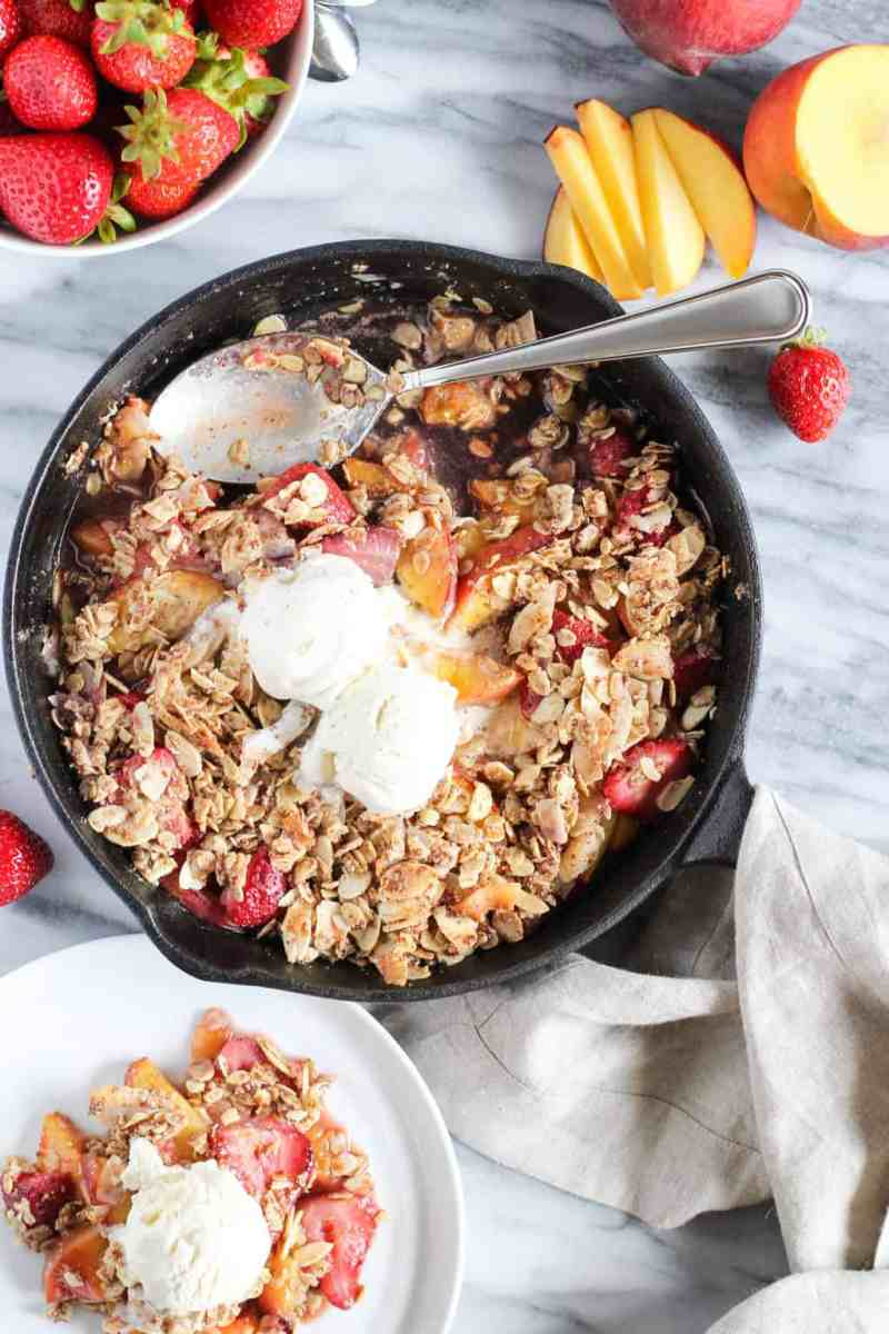 Vegan Strawberry Peach Crisp