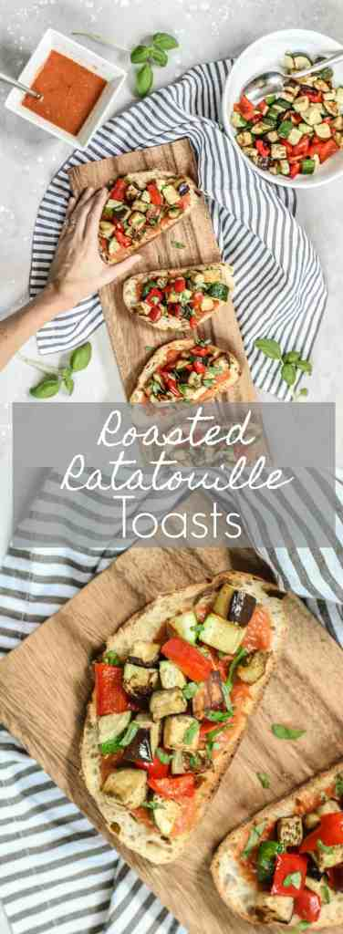 Roasted Ratatouille Toasts | pumpkin & peanut butter
