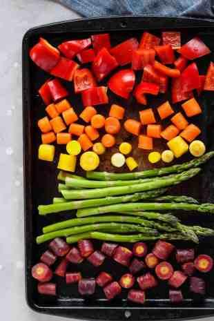 #ad Roasted Rainbow Grain Bowl with Creamy Herb Sauce #ad @HodgsonMills @HealthyAperture | pumpkin + peanut butter