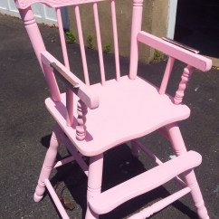 Pink High Chairs Cheap Yellow Chair Covers Distressed Wooden Tutorial In  Pumpkin