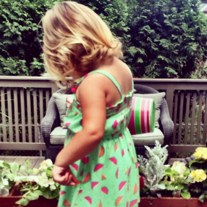 watermelon print dress