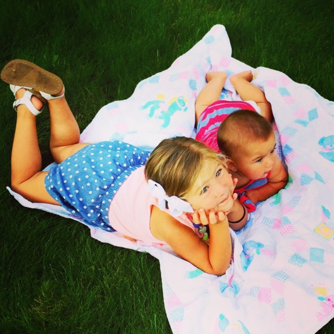 summer sisters lounging
