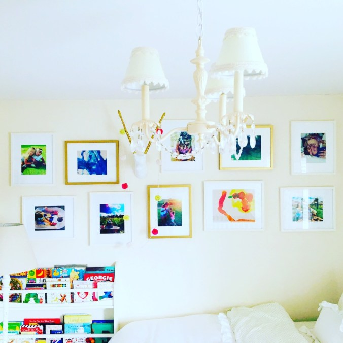 kids room gallery wall