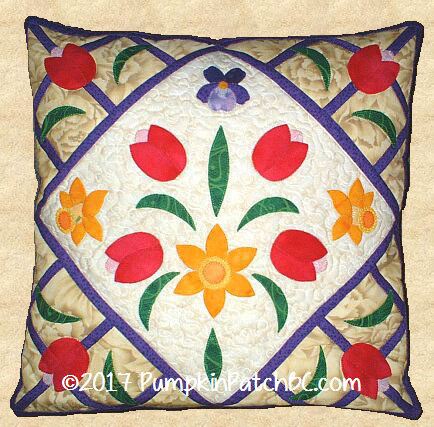 PPP004-EIN Spring Bouquet Pillow