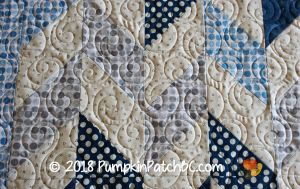 Polka Dot Baby Quilt Detail