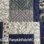 Japanese Improv Quilt Blue Detail 1