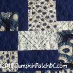 Japanese Improv Quilt Blue Detail 2