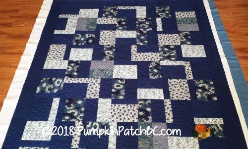 Japanese Improv Quilt Blue