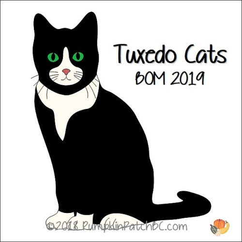Tuxedo Cats BOM 2019