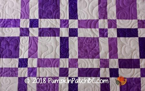 Scrap Quilt Purple Detail