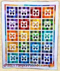Rainbow Butterflies Quilt PPP032